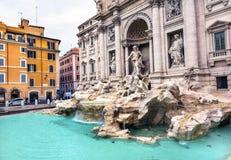 Neptune Nymphs Statues Trevi Fountain Rome Italy Royalty Free Stock Photos