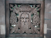 Neptune ornament na moscie Obraz Royalty Free