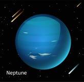 Neptune planet 3d vector illustration Stock Photos
