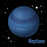 Neptune planet 3d vector illustration. High quality isometric solar system planets. Stock Image