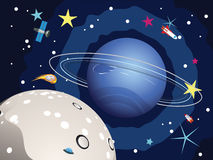 Neptune planeta w przestrzeni Obraz Stock
