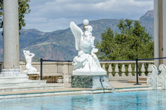 Neptune pool statue Royalty Free Stock Images