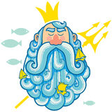 Neptune Portrait royalty free illustration
