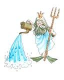 Neptune (Poseidon) Stock Images