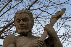Neptune postać, portret rzeźba od piaskowa na zdjęcie stock