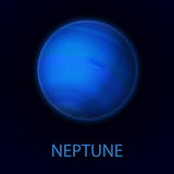 Neptune. Realistic planet of the solar system Royalty Free Stock Photos