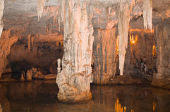 Neptune's cavern. Neptunes cavern in sardinia italy stock photos