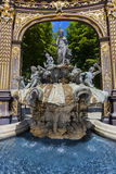 Neptune's fountain by Barthelemy Guibal Royalty Free Stock Photos