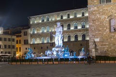 The Neptune's fountain. In Florence Italy royalty free stock photo