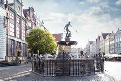Neptune's fountain in Gdansk Stock Photo