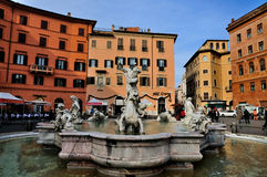 Neptune's Fountain on Piazza Navona Royalty Free Stock Photo