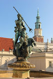 Neptune s fountain. Poznan. Poland Stock Photography