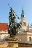 Neptune s fountain. Poznan. Poland Stock Photography