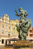 Neptune s fountain. Poznan. Poland Stock Photos