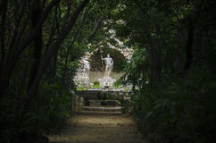 Arboretum. Neptune`s fountain at Trsteno Arboretum royalty free stock photography