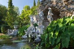 Neptune`s fountain in Trsteno Stock Photography