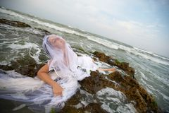 Neptunes mermaid bride Royalty Free Stock Photos