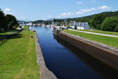 Neptune's Staircase on the Caledonian Canal, Stock Image