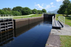 Neptune's Staircase on the Caledonian Canal, Stock Photos