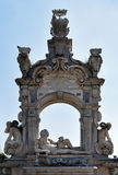Neptune Sculpture and Arch, sea-front Posillipo, Naples, Italy Royalty Free Stock Images