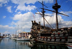 THE NEPTUNE. Genoa, Italy Stock Photography
