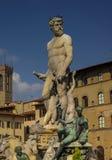 Neptune springbrunn i Florence Accademia Royaltyfri Bild
