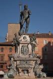 Neptune square. Bologna (Italy) Neptune's bronze statue stock photos