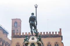 Neptune statua w Bologna Zdjęcia Royalty Free