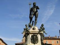Neptune statua w Bologna mie?cie obraz stock