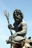 Neptune statua w Virginia plaży Obrazy Royalty Free