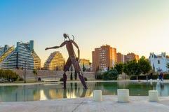 Neptune statua, Walencja, Hiszpania Obrazy Stock
