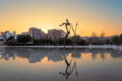 Neptune statua, Walencja, Hiszpania Fotografia Royalty Free