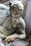 Neptune statue. Close up of Neptune statue at the Royal Palace Hofburg,Vienna, Austria Stock Images
