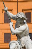 Neptune statue. A shot of bernini neptune statue in rome, piazza navona Royalty Free Stock Image