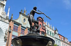 Neptune Statue, Artus Court, Gdansk Poland Tom Wurl Royalty Free Stock Photography
