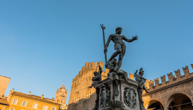 Neptune Statue in Bologna, Italy Stock Images