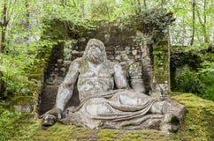 Neptune statue in Bomarzo gardens - Lazio - Italy travel Stock Images