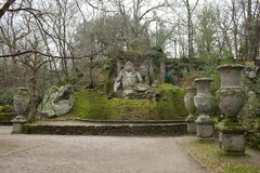 Neptune Statue Bomarzo, Italy Royalty Free Stock Photos