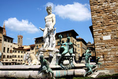 Neptune Statue in Florence Stock Photo