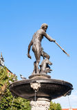 Neptune statue and fountain in Gdansk, Poland Royalty Free Stock Photo