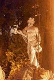 Neptune Statue Fountain Night Madrid Spain Royalty Free Stock Image