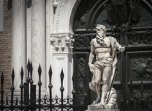 Neptune statue at the gates of Arsenal, Venice, Italy royalty free stock photography