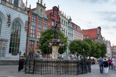 Neptune statue in Gdansk Royalty Free Stock Photo