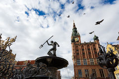 Neptune statue, Gdansk Royalty Free Stock Images