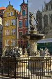 Neptune statue in Gdansk Royalty Free Stock Image