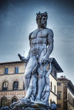 Neptune statue in hdr in Florence Stock Photography