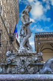 Neptune statue in hdr Stock Image