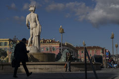 Neptune statue, Nice, France. Stock Photo