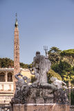 Neptune statue at Piazza del Popolo, Rome, Italy Royalty Free Stock Image