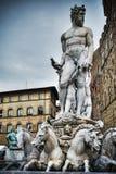 Neptune statue in Piazza della Signoria Stock Photo